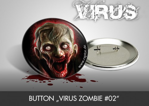 "Button ""VIRUS Zombie #02"""