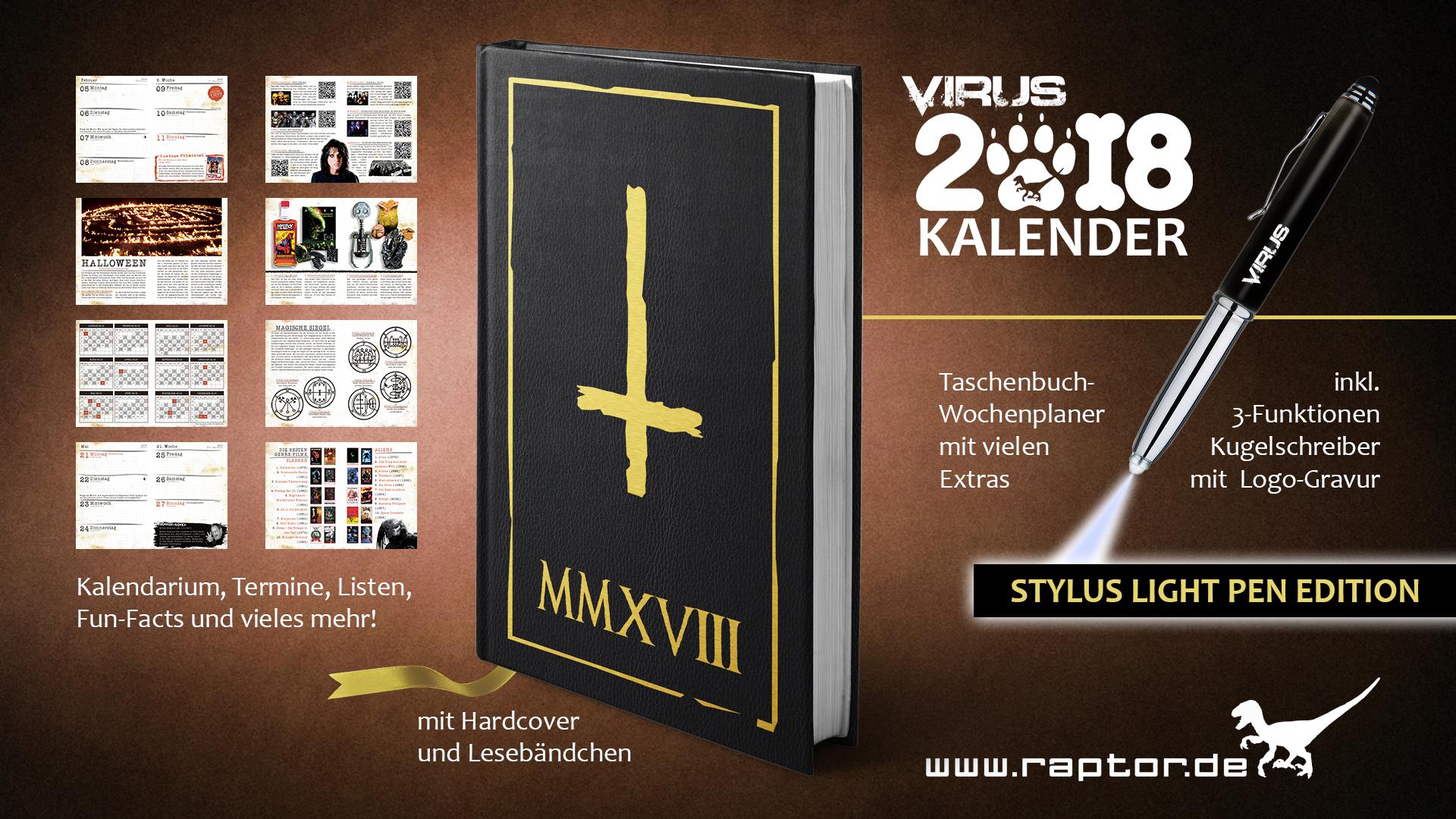 VIRUS Kalender 2018 Stylus Light Pen Edition