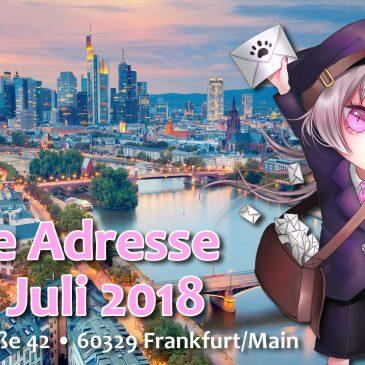 Neue Adresse ab 1. Juli 2018