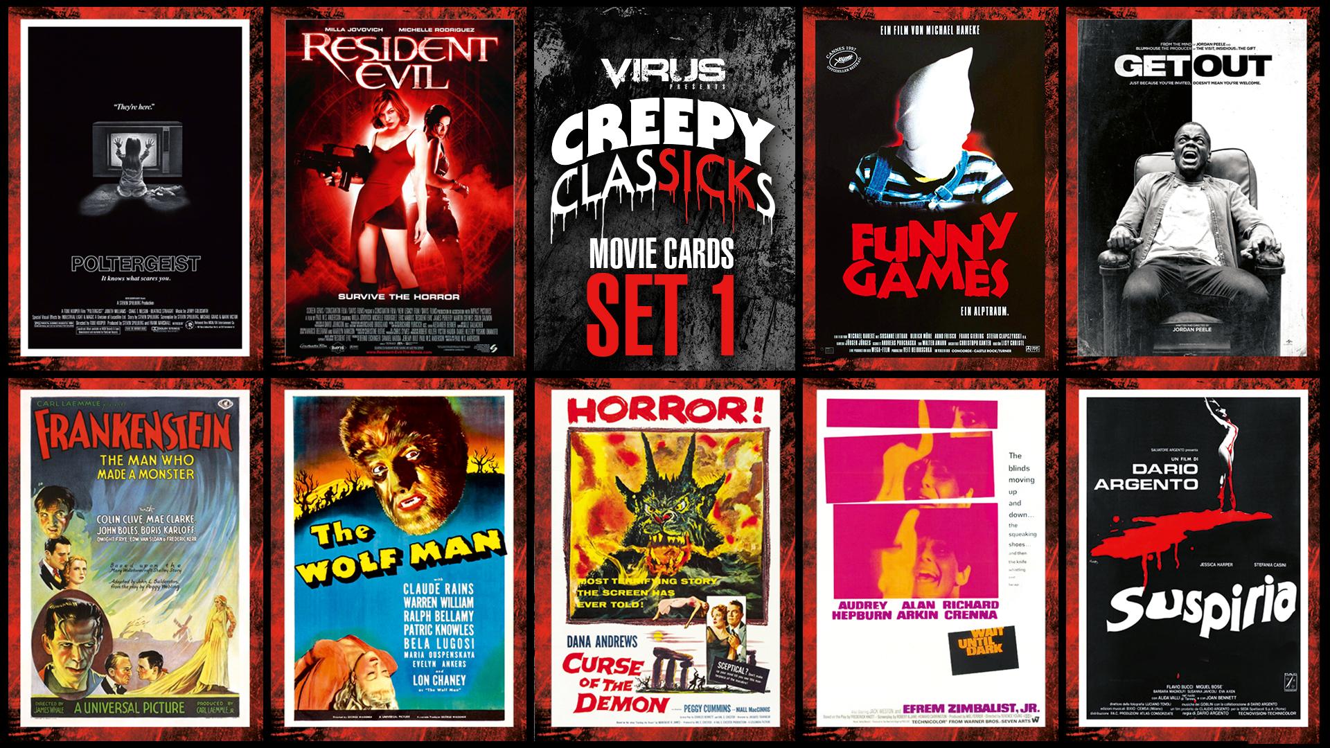 VIRUS Creepy ClasSICKs Movie Cards Set #01