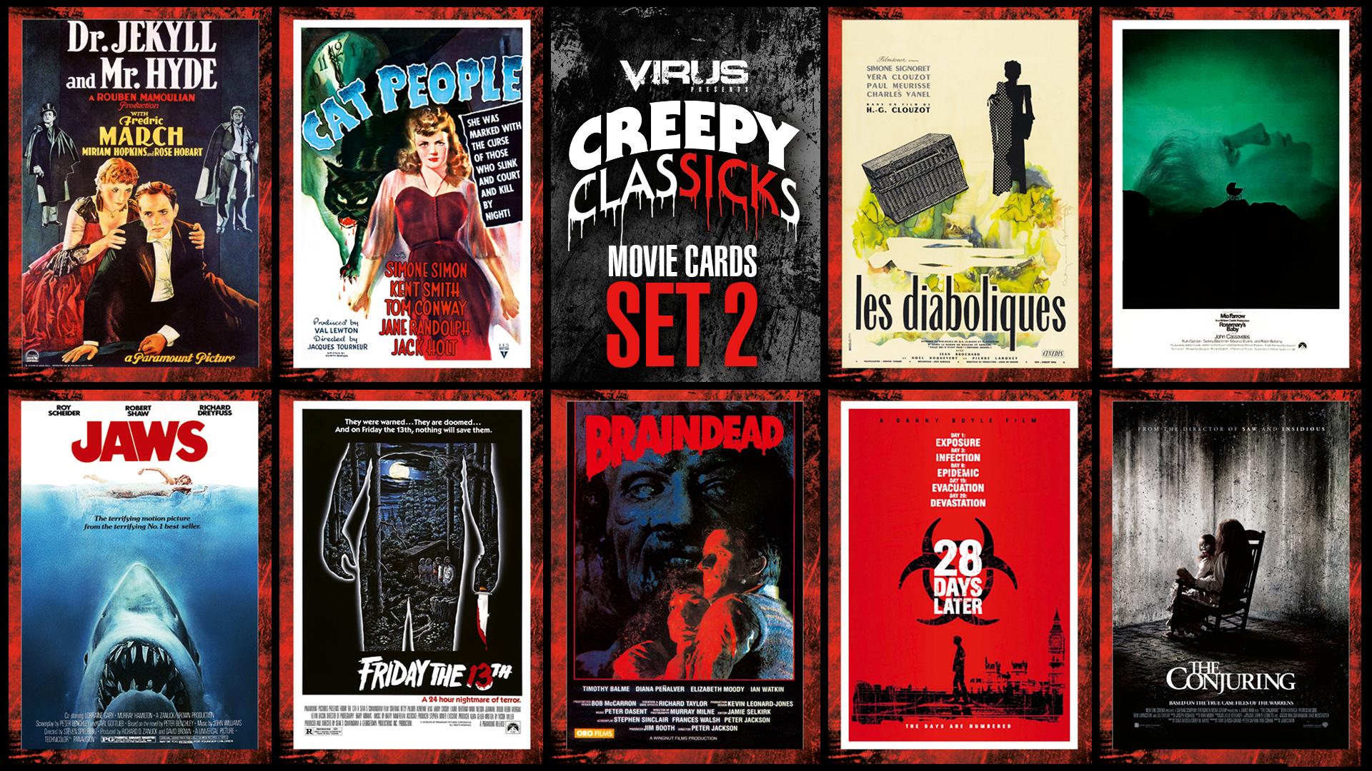 VIRUS Creepy ClasSICKs Movie Cards Set #02
