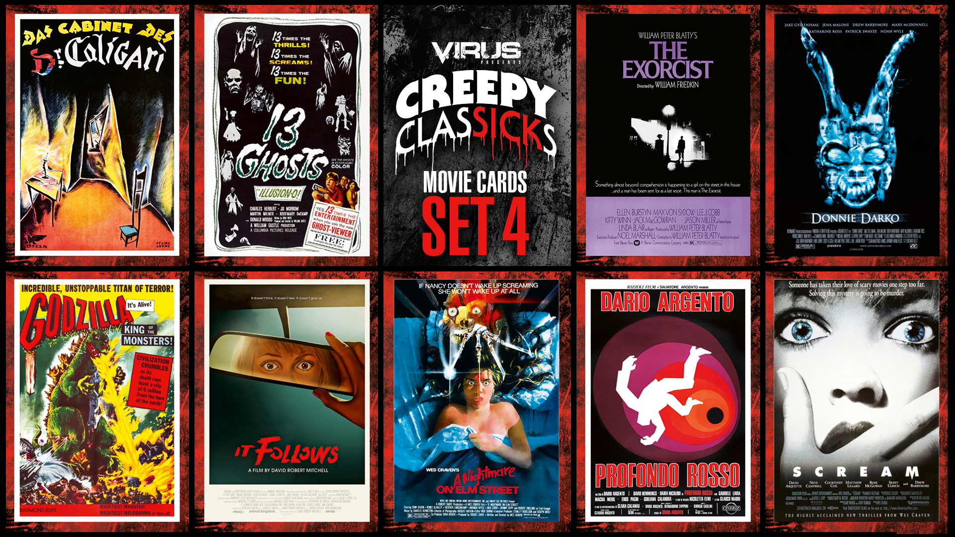 VIRUS Creepy ClasSICKs Movie Cards Set #04