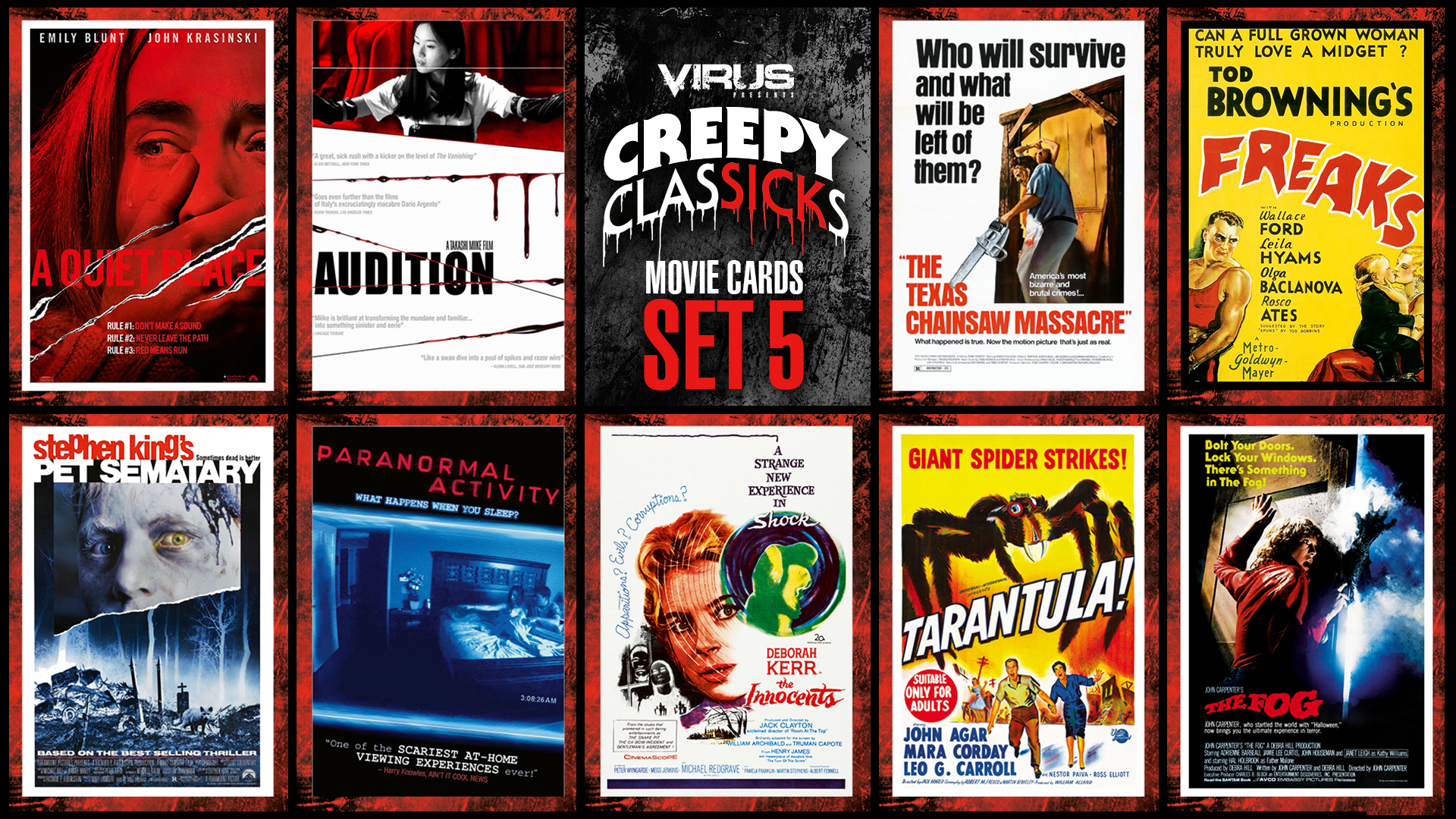 VIRUS Creepy ClasSICKs Movie Cards Set #05