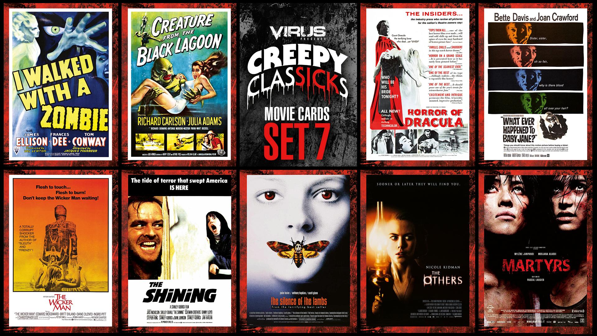 VIRUS Creepy ClasSICKs Movie Cards Set #07