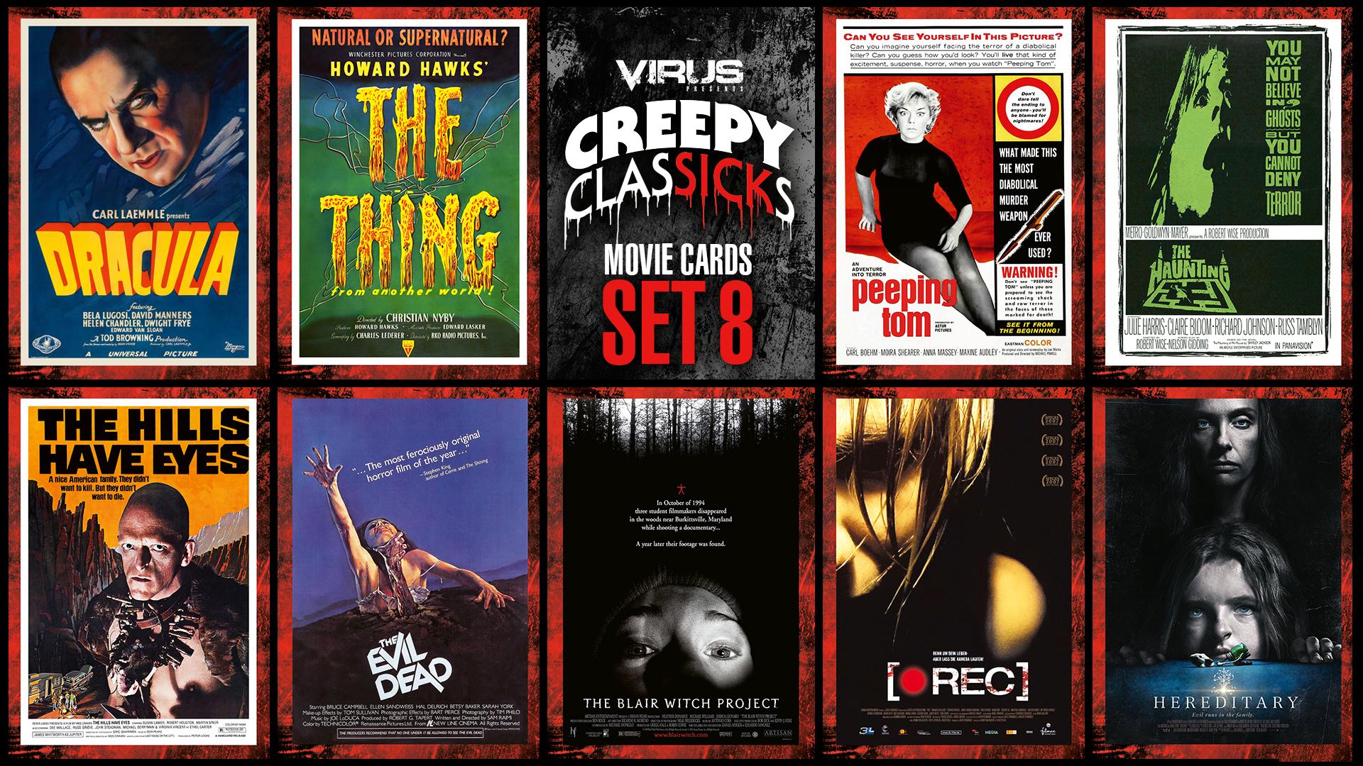 VIRUS Creepy ClasSICKs Movie Cards Set #08