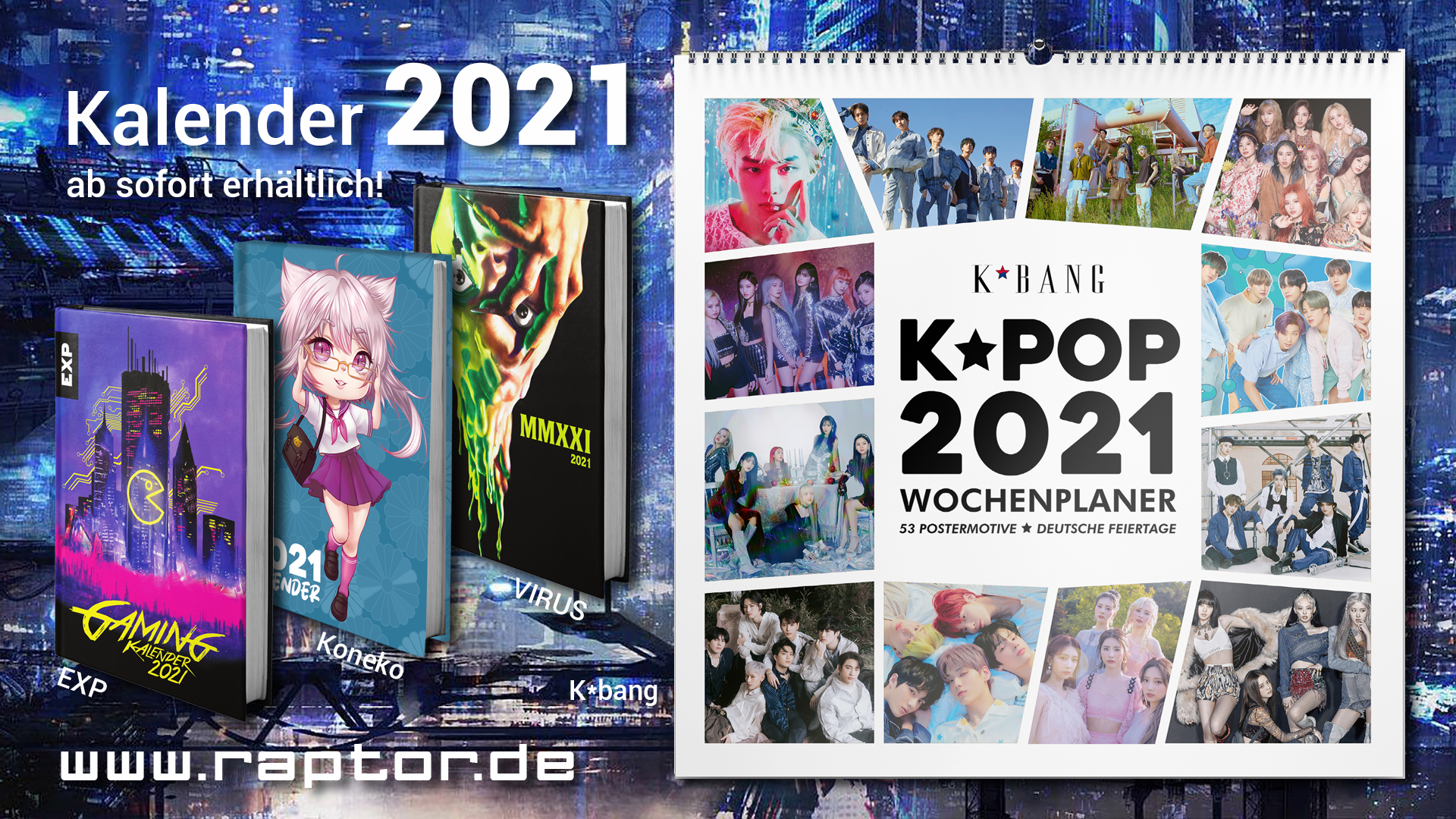raptor Kalender 2021