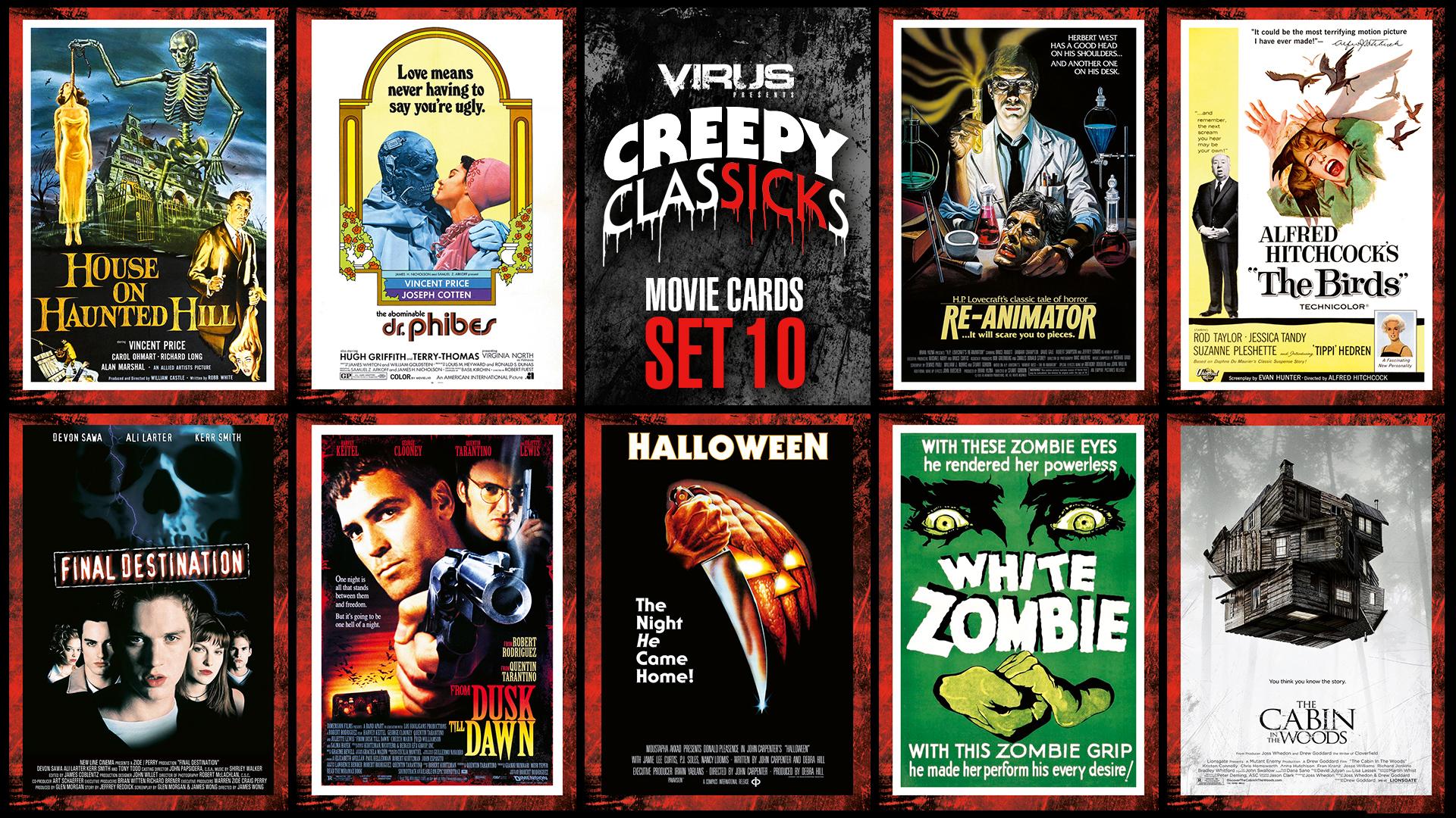 VIRUS Creepy ClasSICKs Movie Cards Set #10