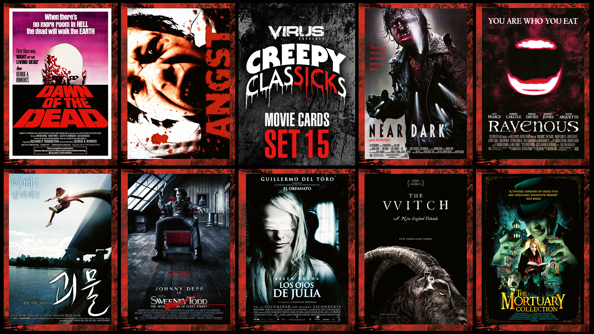 VIRUS Creepy ClasSICKs Movie Cards Set #15