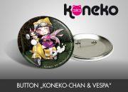 """Button """"Koneko-chan & Vespa"""""""